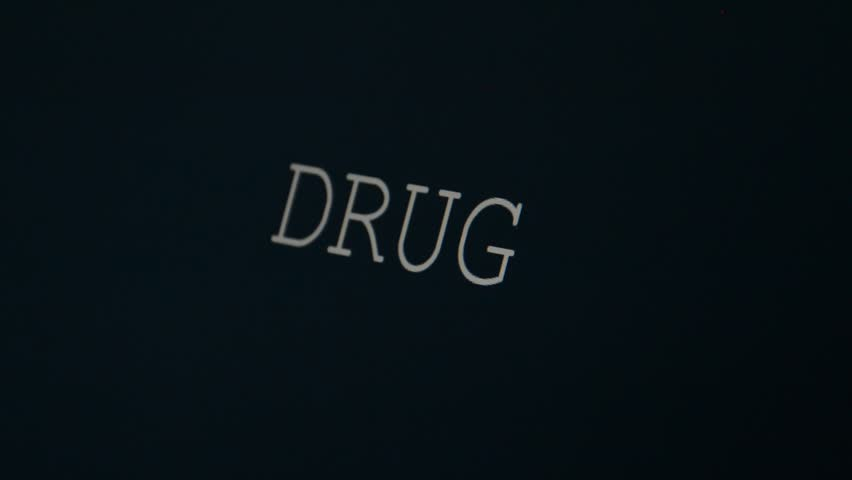 Typing word on a black background, drug   Shutterstock HD Video #20985787