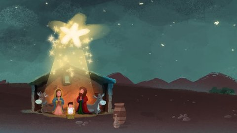 Portal Bethlehem manger video animation