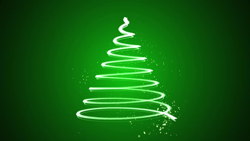 Stock Video Of Christmas Tree Animation Winter Background