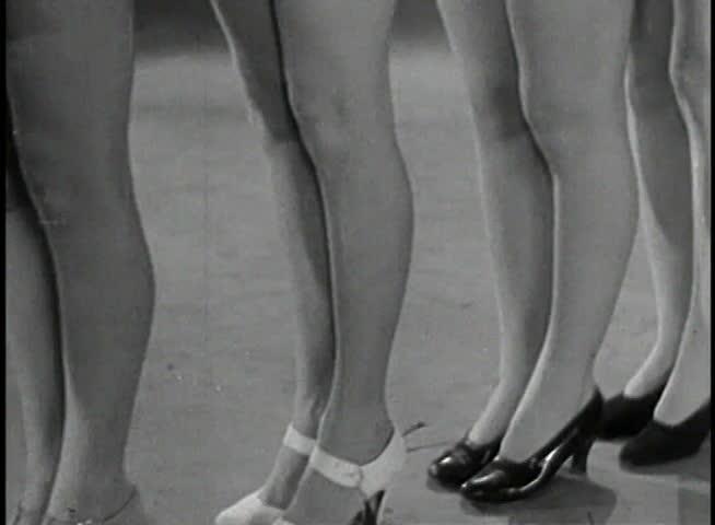 Panning showgirls' legs