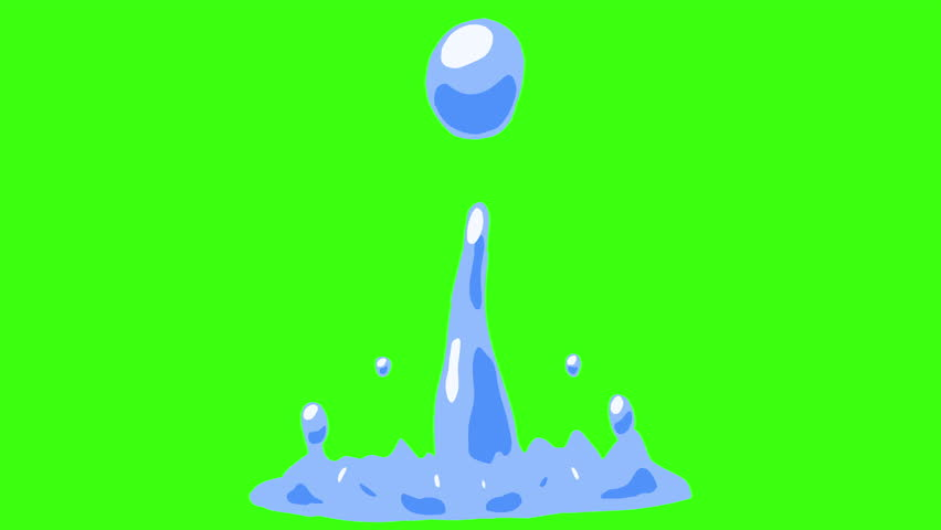 2d Cartoon FX Pack 4K 32 Color Water Elements. Pre-rendered with green screen with 4K resolution.