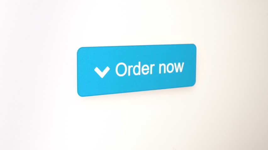 Order now button clicked on a web page, shot in several different colors and backgrounds, computer screen closeup for online shopping concept videos