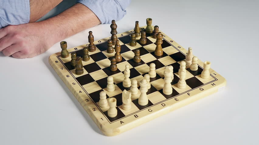 chess game - HD stock footage clip