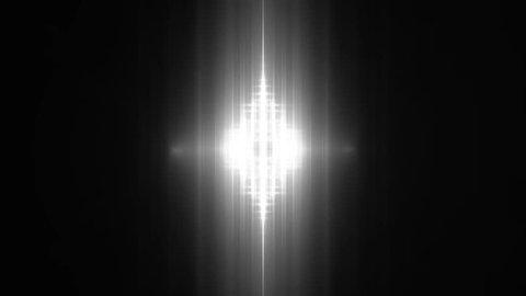 VJ Fractal grey kaleidoscopic background.Background grey motion with fractal design. Disco spectrum lights concert spot bulb. Lights Flashing Spot light. On a black background.
