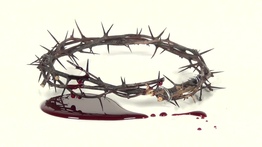 crown of thorns and blood
