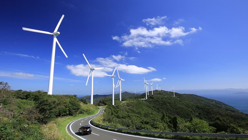 Wind power generation facility in Japan