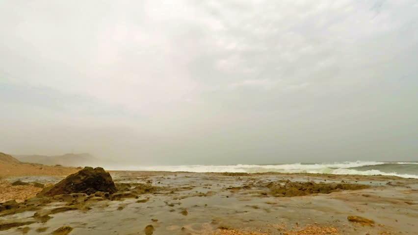 Blow hole at Al Mughsayl beach near Salalah, Oman