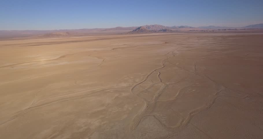 Aerial shots of Zzyzx Road Desert Between Los Angeles and las Vegas in Mojave 4K   Shutterstock HD Video #21326368