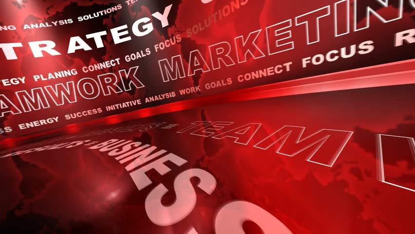 Business oriented words animation on red background (loop) | Shutterstock HD Video #2132798