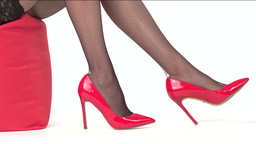 92e63fa042a Womans Legs Wearing Red Shoes. Stock Footage Video (100% Royalty-free)  21339397   Shutterstock