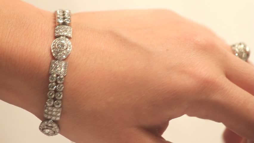 Vintage Diamond Jewelry HD Female Hand With Vintage Diamond