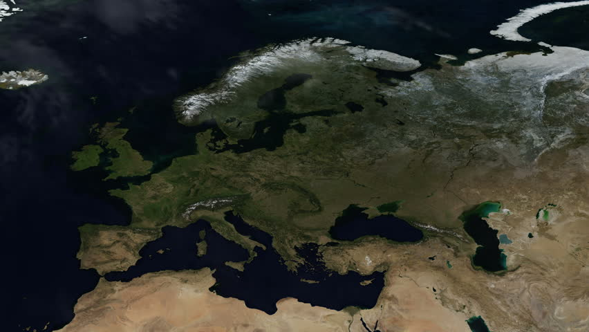 Map of Europe Seasons Changing Time-lapse - A Whole Year of Planet Earth's Natural Cycle (4k UHD)