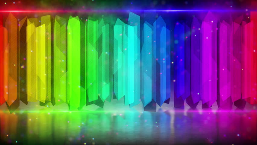 Rainbow Color Elements Computer Generated Stock Footage Video
