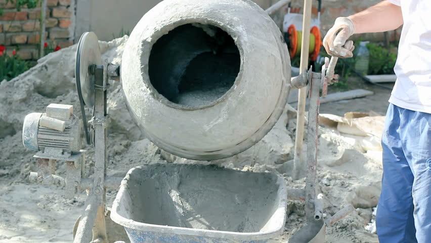 concrete mixers stock footage video shutterstock. Black Bedroom Furniture Sets. Home Design Ideas