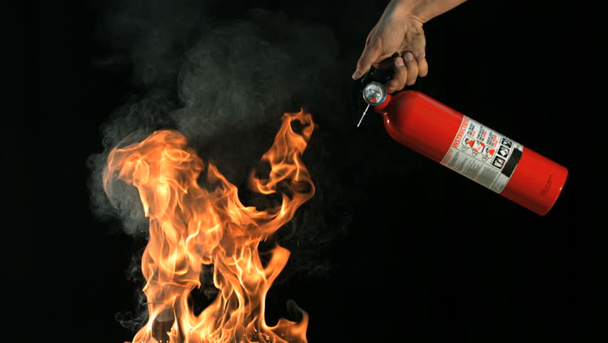 Slow motion fire extinguisher and flames | Shutterstock HD Video #21468127