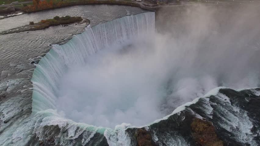 Aerial footage Niagara Falls Canada 4k