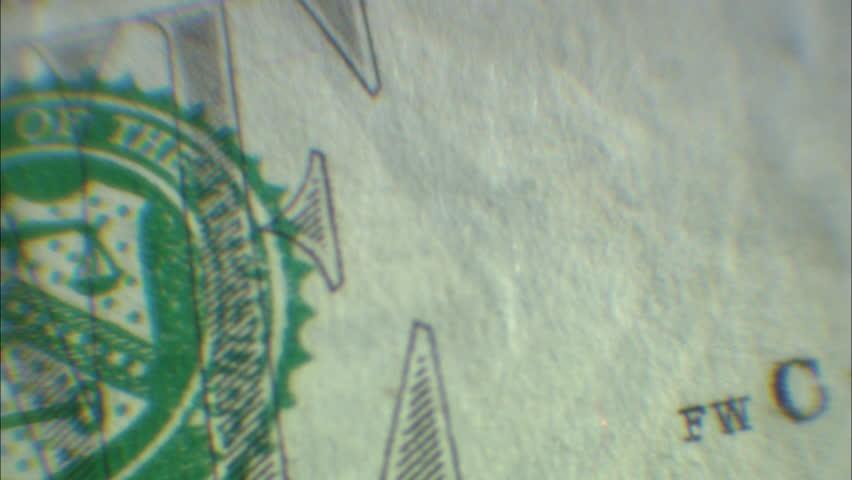 Closeup of 1 dollar bill