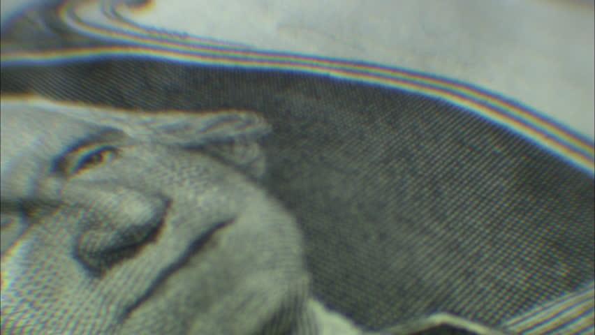 Rotating George Washington 1 dollar bill