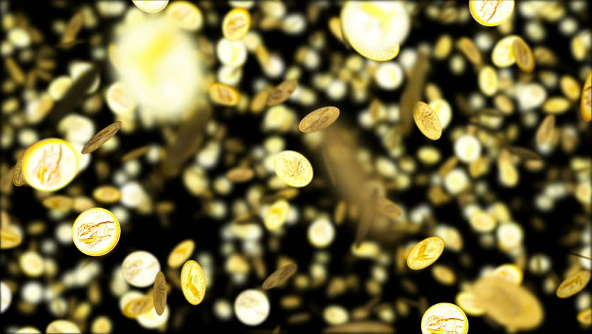 HD Loopable Background with nice falling golden coins