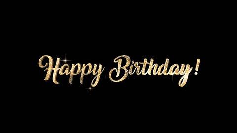 Happy Birthday Title + Alpha Channel