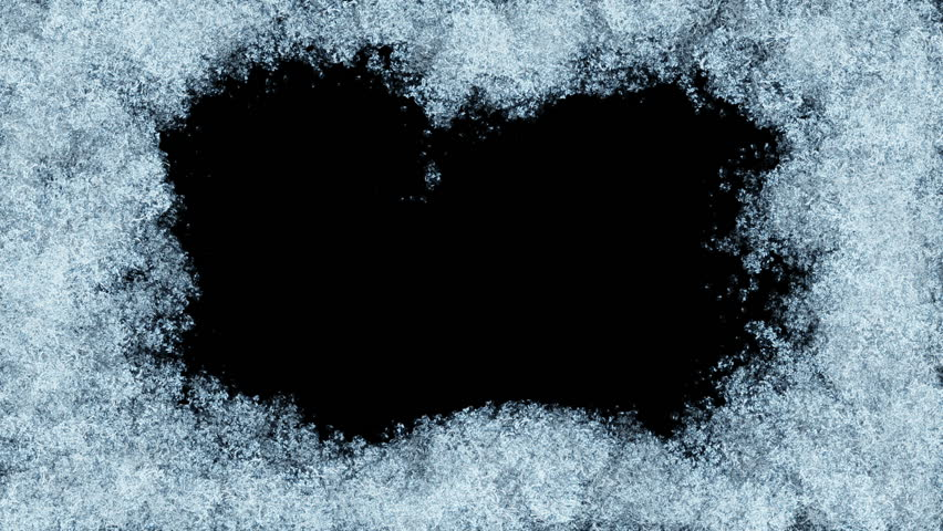 Beautiful Animation of Freezing Window from Borders to the Center. Freezing and Defrosting. HD 1080. Alpha Mask. | Shutterstock HD Video #21681646
