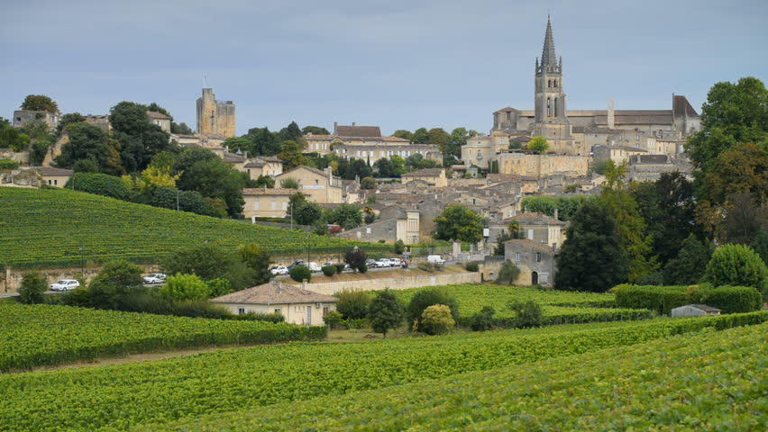 Beautiful town of Saint-Emilion, Gironde, Aquitaine, France (A UNESCO World Heritage Site)