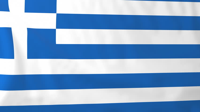 Flag of Greece. Rendered using official design and colors. Seamless loop.