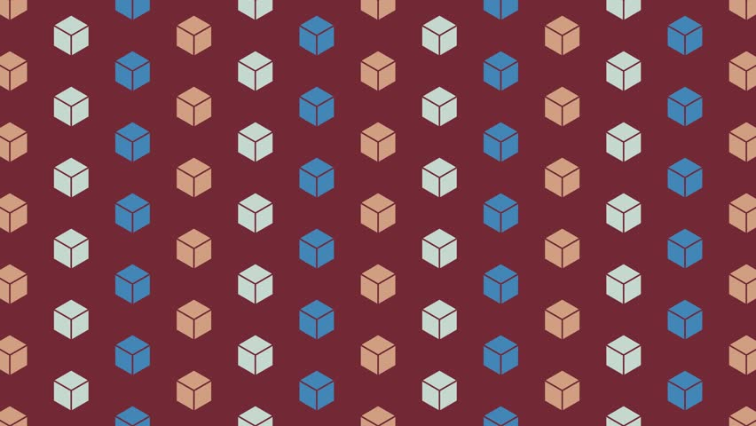 Crumbling cubes artistic hexagonal pattern. Seamless animation. More colors available in portfolio | Shutterstock HD Video #21717877