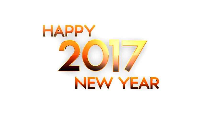Happy new year 2017 written with Sparkle firework | Shutterstock HD Video #21731377