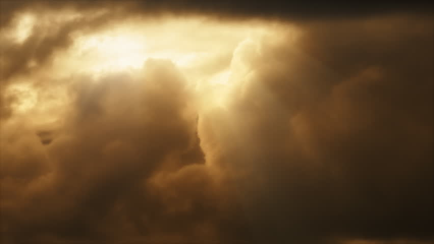 Dramatic clouds with light rays