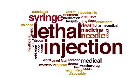 Lethal injection animated word cloud.