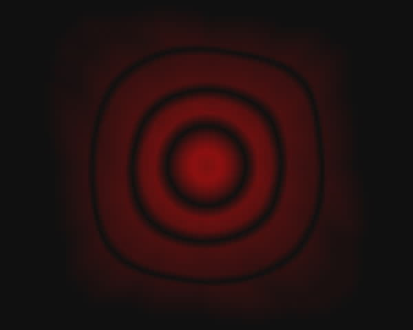 subtle red rings slowly pulsate