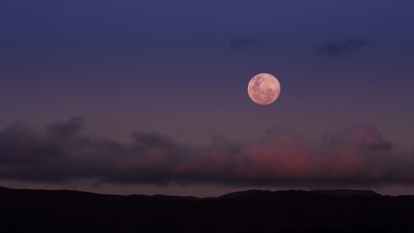 Super moon rising over Eastbourne, Wellington New Zealand