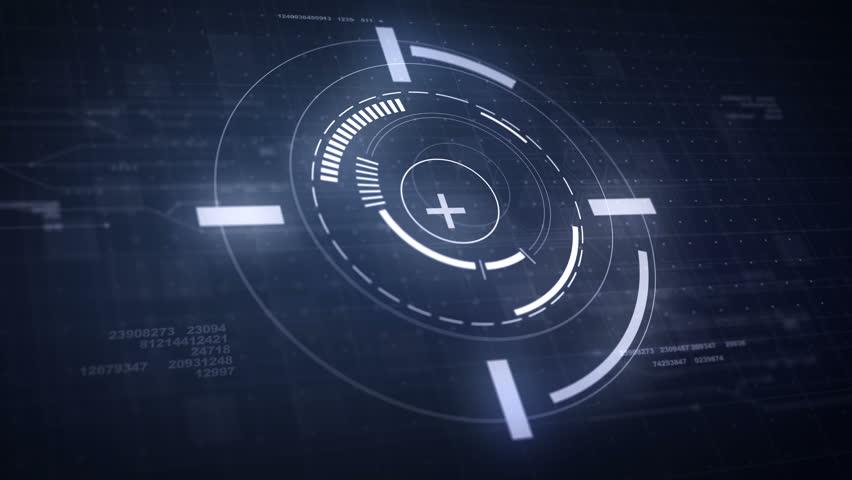 Hi-Tech Futuristic HUD Display Circle Elements Looping Animation 4K | Shutterstock HD Video #21943732