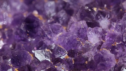Close Up Of Amethyst (Slow Rotation)