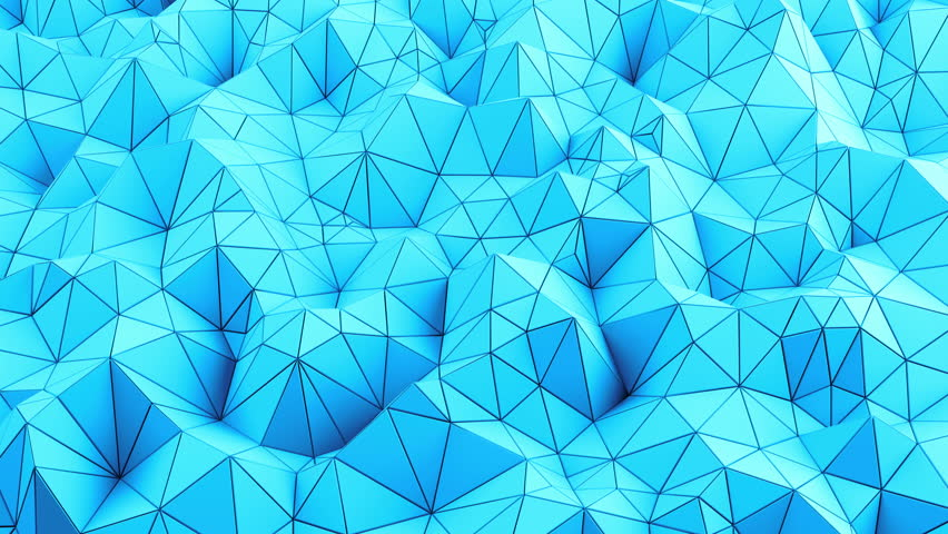Abstract 3D render Triangle background. Loop video. Low Poly polygonal geometric surface. Triangular crystalline background animation. Random Motion. Background for text. UHD. 4K. Abstract surface. | Shutterstock HD Video #21978937