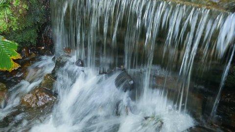 close up of waterfall splash at Botanical Garden of Rio de Janeiro
