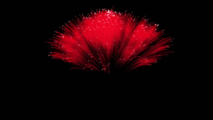 Spectacular Fireworks show, red linear fireworks, multiple lines Full HD Ver. 5
