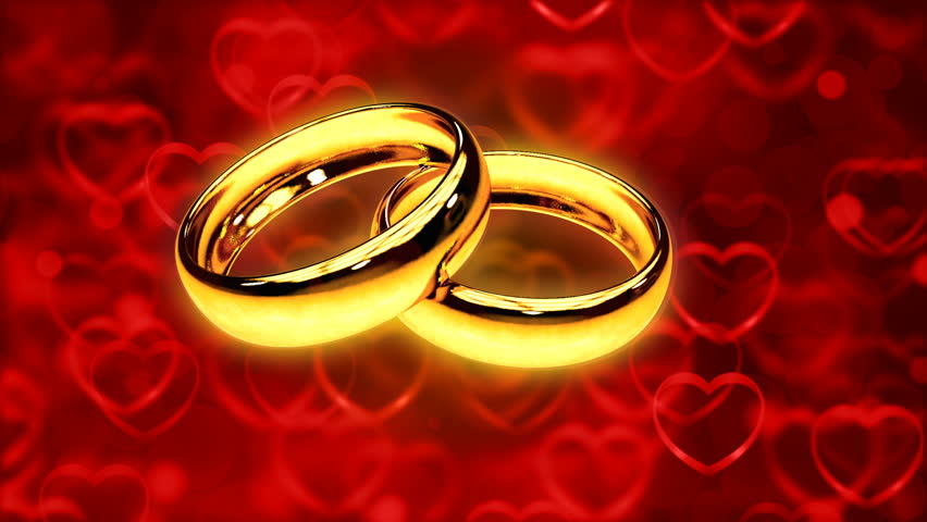 Abstract Loopable Background With Two Gold Rings Stock Footage