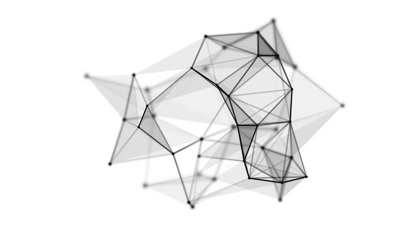 Wireframe mesh polygonal object. Abstract form with connected lines and dots. Available in HD video 3d render footage. | Shutterstock HD Video #22081477