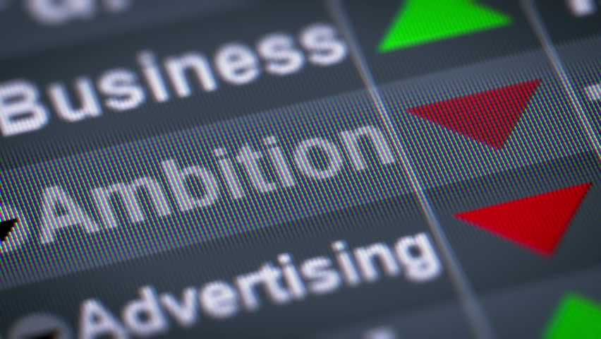"""""""Ambition"""" on the screen. Down. Looping.   Shutterstock HD Video #22111627"""