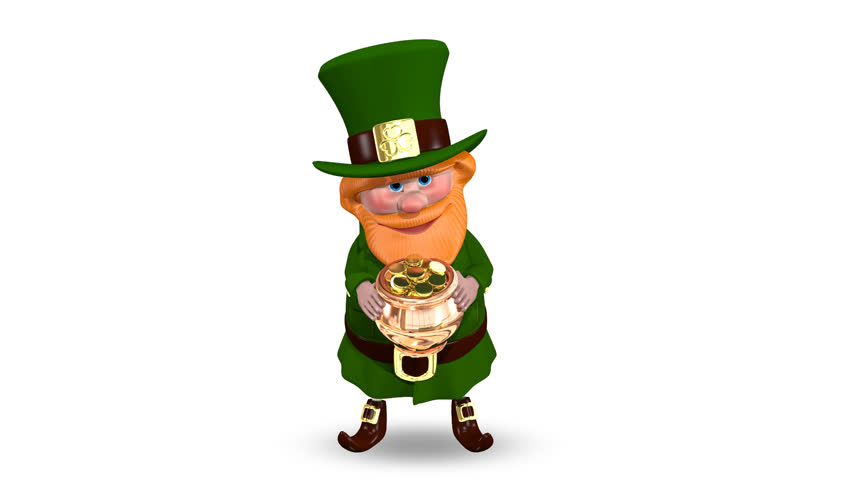 Animation Saint Patrick Pot With Stock Footage Video 100 Royalty