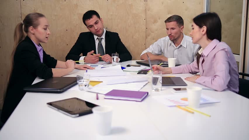 Business team working on new project at office. | Shutterstock HD Video #22271950