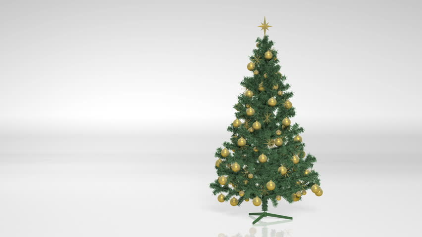 Christmas tree animation stop motion of a green christmas for Red and yellow christmas tree