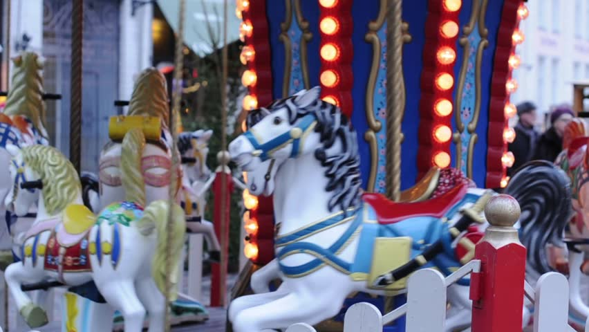 Video of merry-go-round in the center of Tallin, Estonia