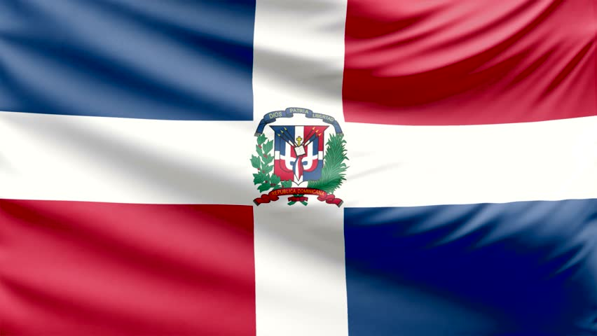 flag of the dominican republic stock footage video 2574479