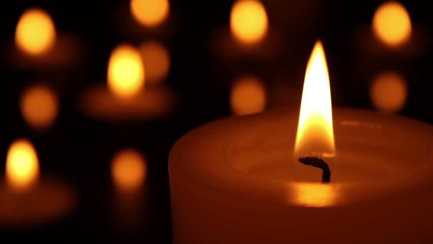 Candle Art Hd Wallpaper: Candle Light Close Up. Candle Burning With Bokeh Lights On
