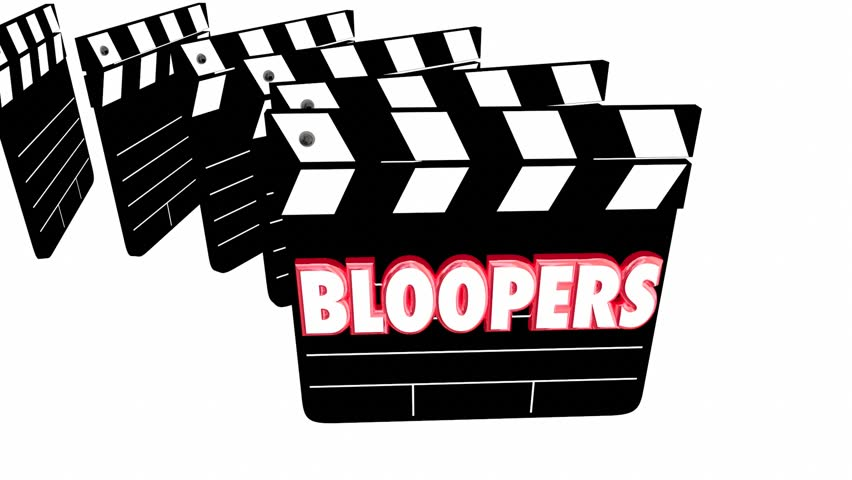 Bloopers Outtakes Mistakes Wrong Flubs Movie Clapper Boards 3d Animation