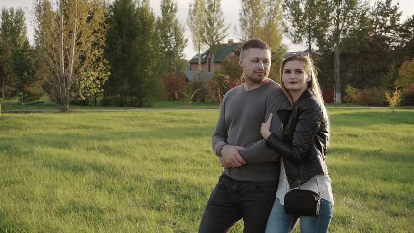Couple walking in the autumn park HD | Shutterstock HD Video #22411897