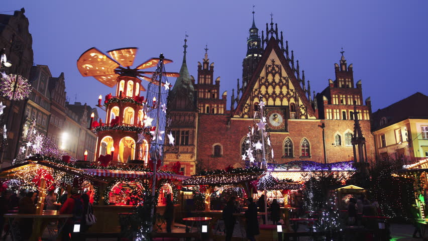 wroclaw poland december 29 old city hall on december. Black Bedroom Furniture Sets. Home Design Ideas
